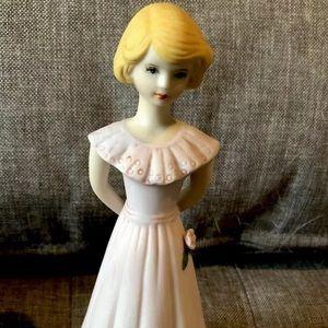 Enesco birthday girl figurine gift age 13 blonde